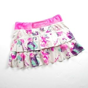 Rare Lululemon Blurred Blossom Pacesetter Skirt 8